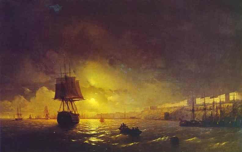Ivan Aivazovsky. View of Odessa by Moonlight.