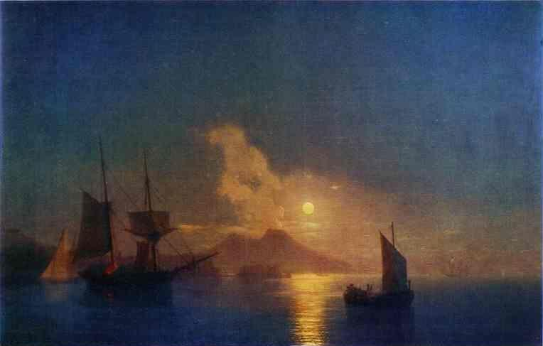 Ivan Aivazovsky. The Bay of Naples by Moonlight.