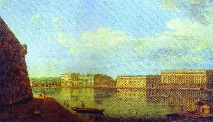 Fedor Alekseev. View of the Palace Sea-Front from the Fortress of St. Peter and Paul.
