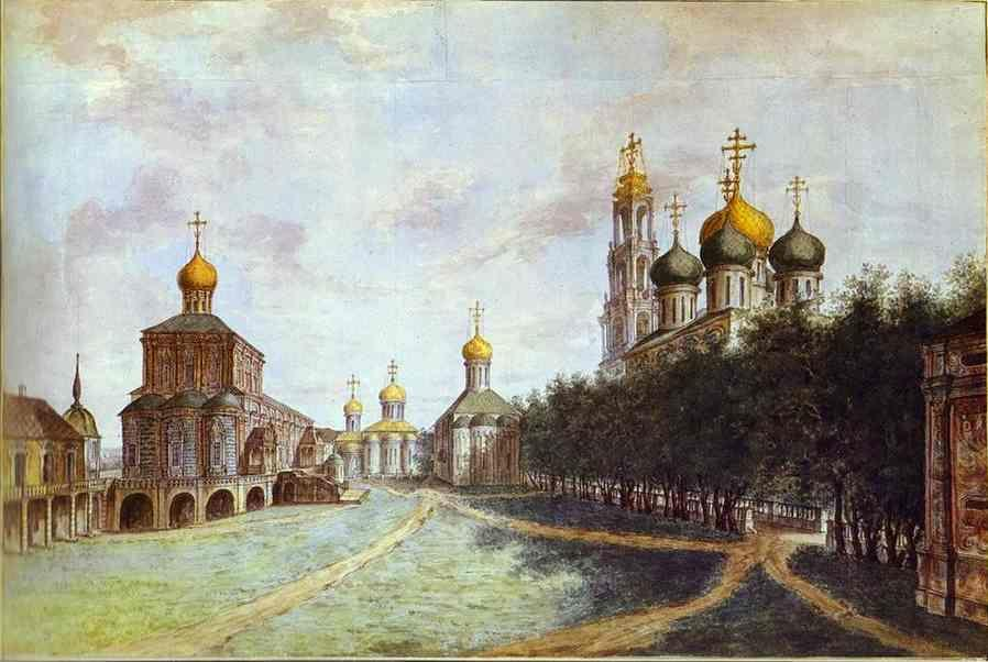 Fedor Alekseev and his pupils. The Monastery of Trinity and St. Sergius.