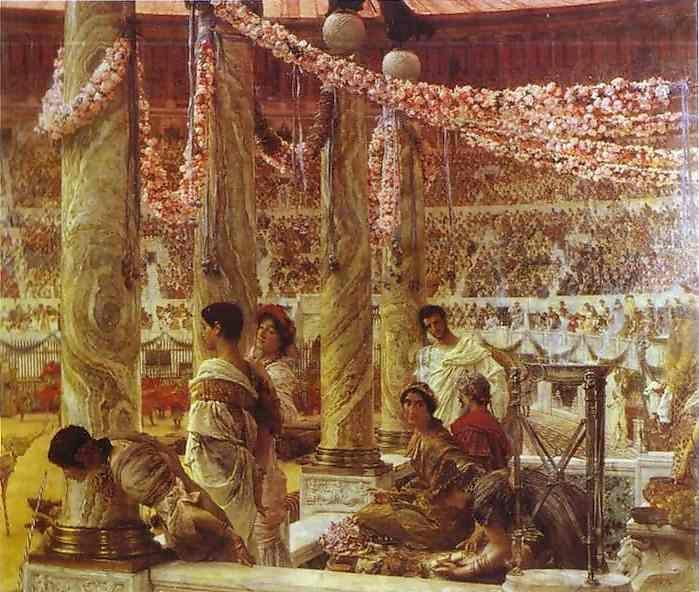 Sir Lawrence Alma-Tadema. Caracalla and Geta, Bear Fight in the Coliseum: AD 203.