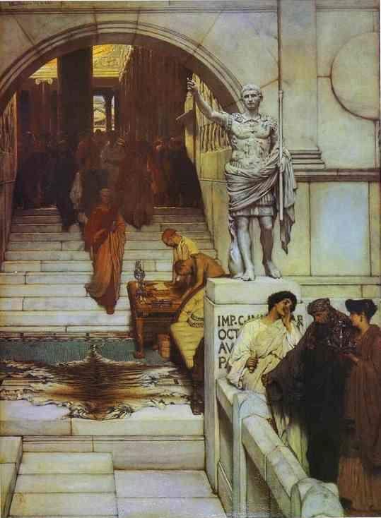 Sir Lawrence Alma-Tadema. An Audience at Agrippa's.