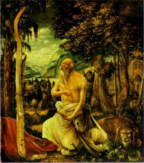 Albrecht Altdorfer. The Penitence of St. Jerome.