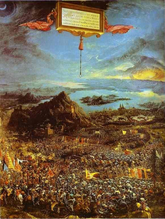 Albrecht Altdorfer. Alexander's Victory (The Battle of the Issus).