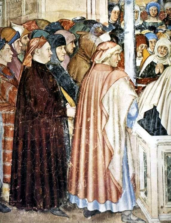 Altichiero da Zevio. The Burial of St Lucy. Detail.