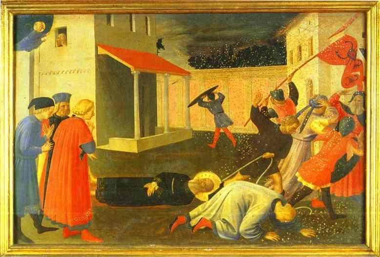 Fra Angelico. Linaiuoli Tabernacle, predella: The Martyrdom of St. Mark.