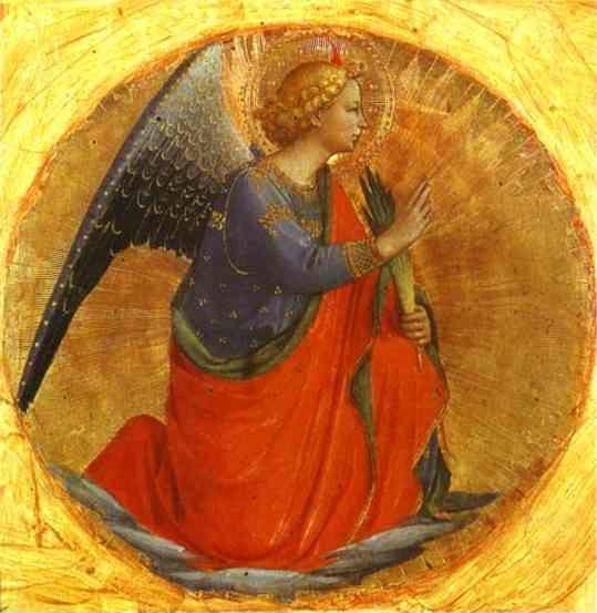 Fra Angelico. Perugia Triptych: Angel of the Annunciation.