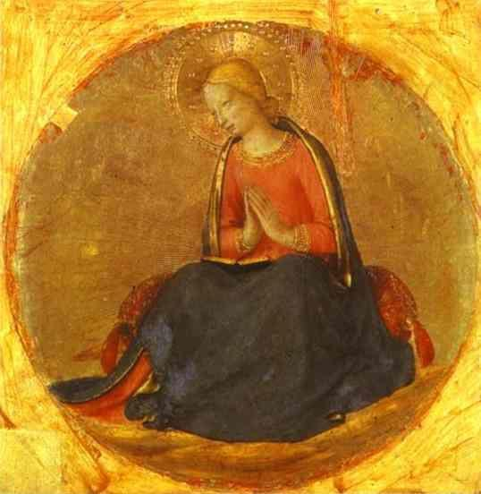 Fra Angelico. Perugia Triptych: The Virgin from the Annunciation.