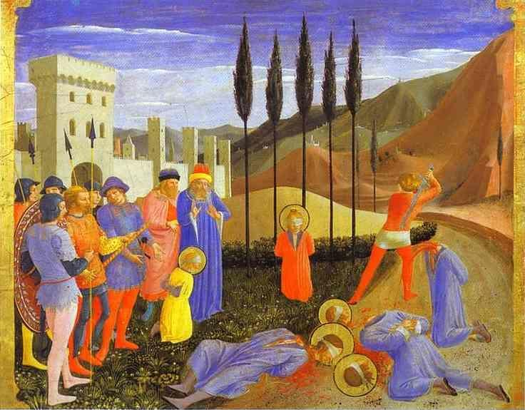 Fra Angelico. San Marco Altarpiece: The Beheading of Cosmas and Damian.