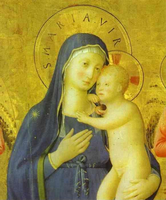 Fra Angelico. Bosco ai Frati Altarpiece. Detail.