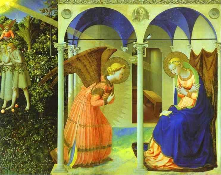 Fra Angelico. Altarpiece of the Annunciation.