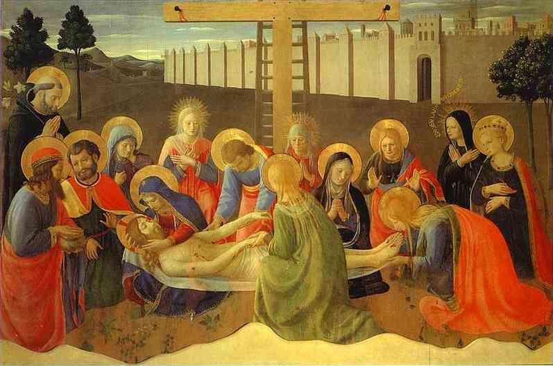 Fra Angelico. Lamentation over the Dead Christ.