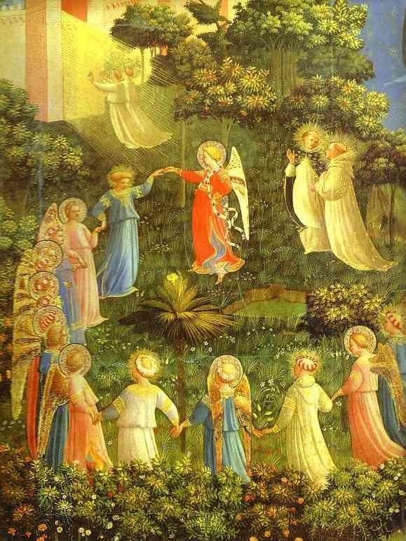 Fra Angelico. The Last Judgement. Detail: The Blessed.