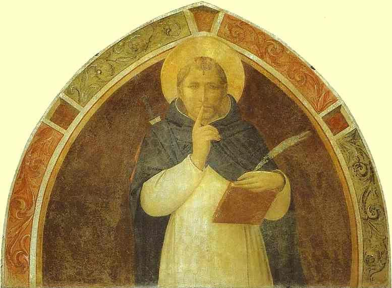 Fra Angelico. Peter Martyr Enjoins Silence.