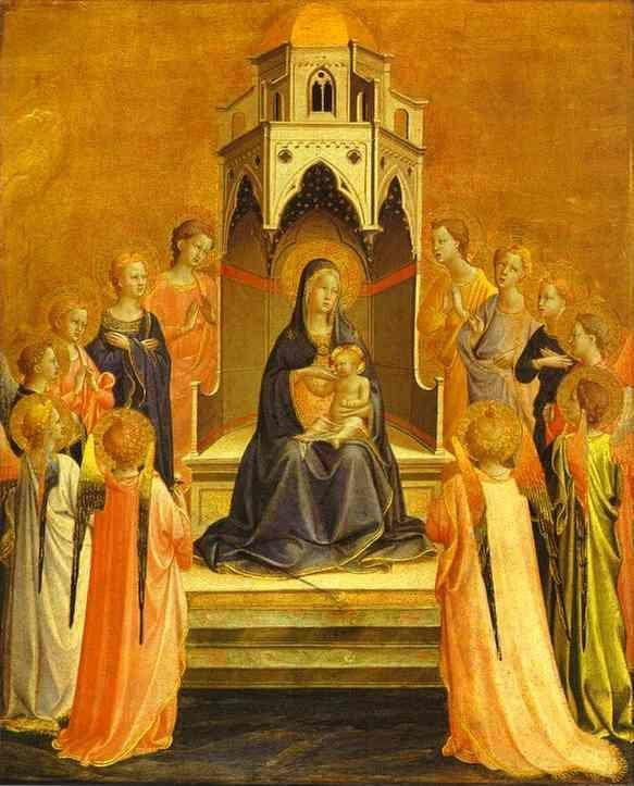 Fra Angelico. Madonna Surrounded by Angels.
