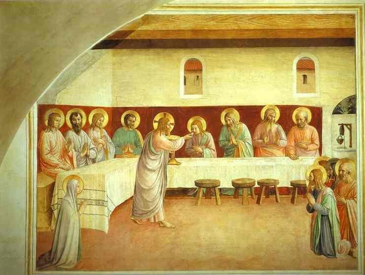 Fra Angelico. The Institution of the Eucharist.