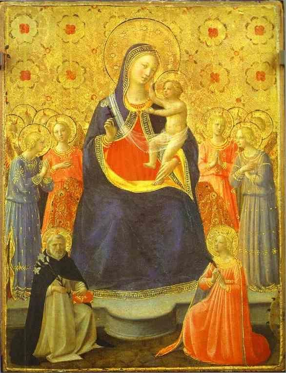 Fra Angelico. Madonna with Angels and the Saints Dominic and Catherine.