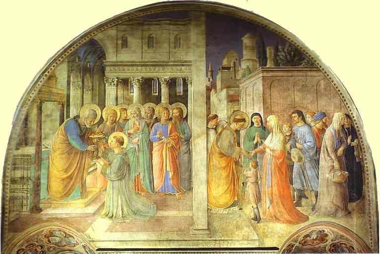 Fra Angelico. Ordination of St. Stephen by St. Peter.