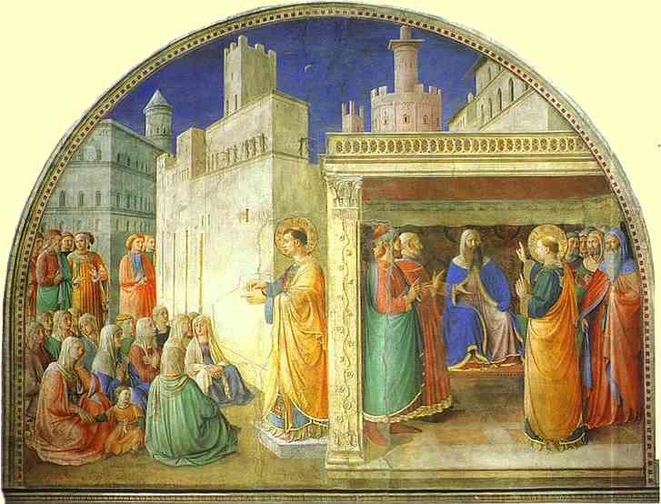 Fra Angelico. St. Stephen Preaching.