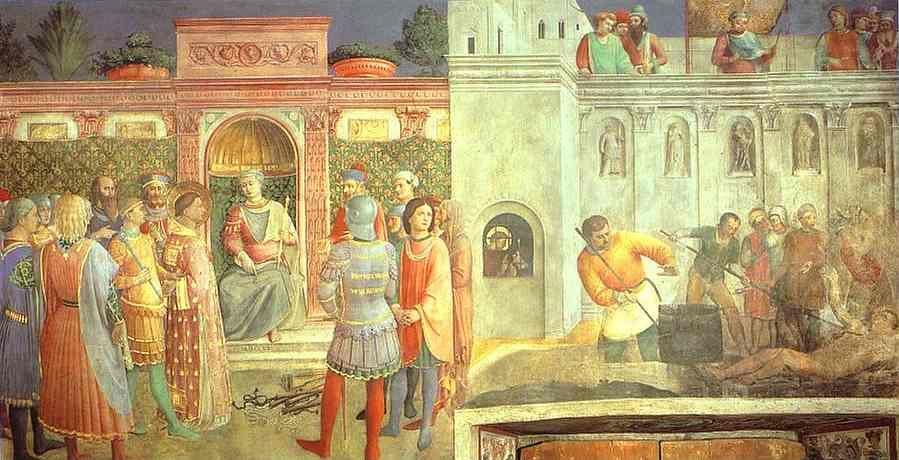 Fra Angelico. St. Lawrence before St. Valerianus and Martyrdom of St. Lawrence.