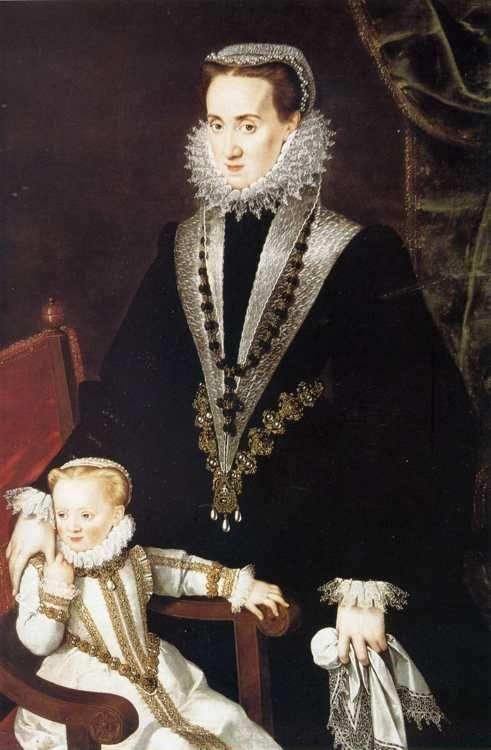 Sofonisba Anguissola. Dona Maria Manrique de Lara y Pernstein and One of Her Daughters.