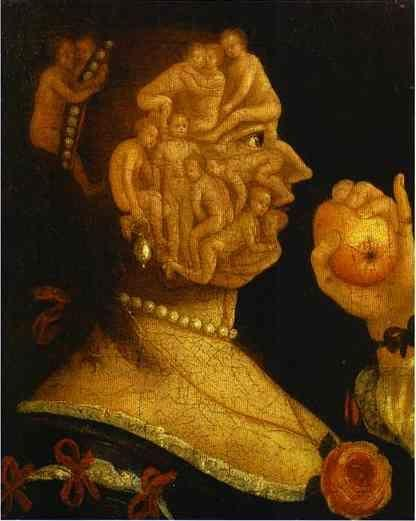 Giuseppe Arcimboldo. Eve and the Apple, with Counterpart.