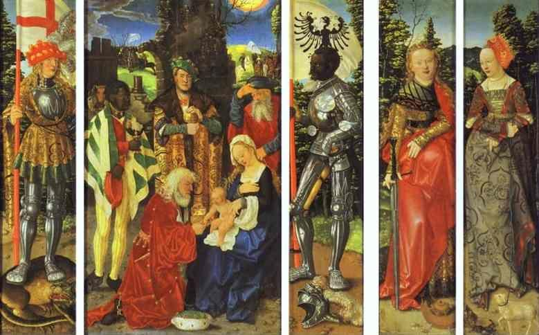 Hans Baldung. The Three Kings Altarpiece.