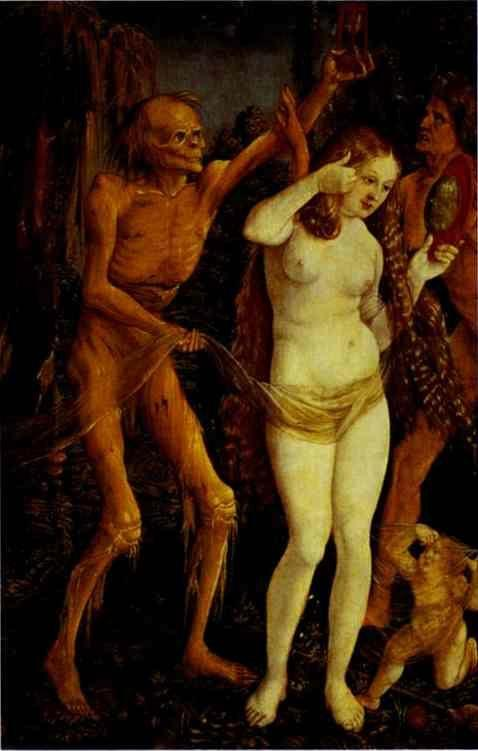 Hans Baldung. Death and the Maiden.