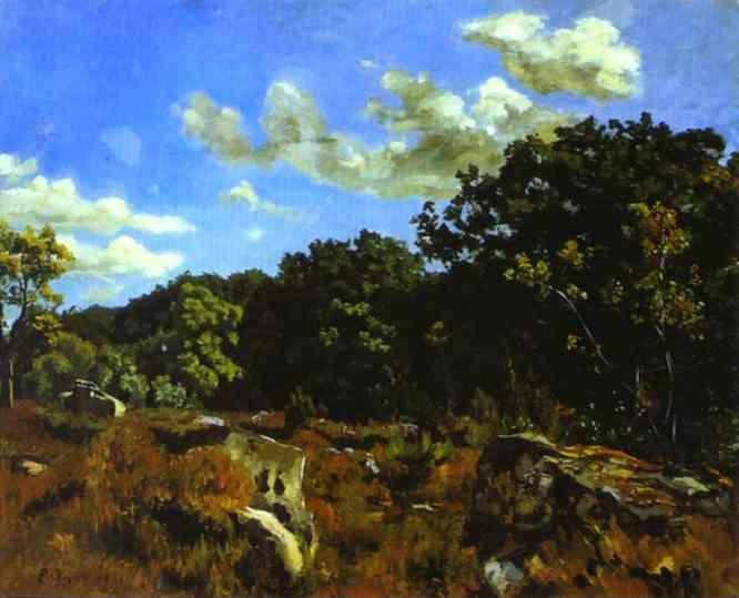 Frédéric Bazille. Landscape at Chailly.