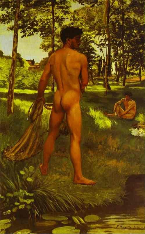 Frédéric Bazille. The Fisherman with a Net.