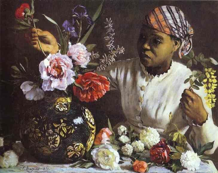 Frédéric Bazille. Negress with Peonies.