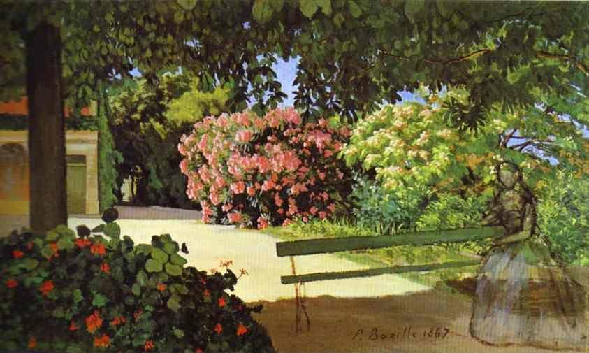 Frédéric Bazille. The Terrace at Méric (Oleander).