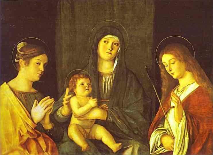 Giovanni Bellini. Madonna and Child between SS. Catherine and Ursula.