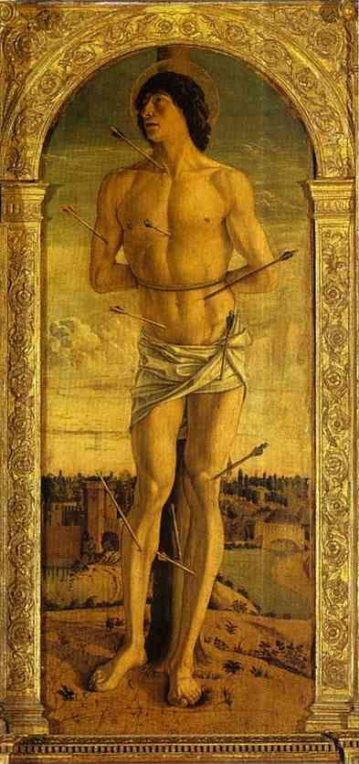Giovanni Bellini. St. Sebastian (Panel of St. Vincent Ferrar Polyptych).
