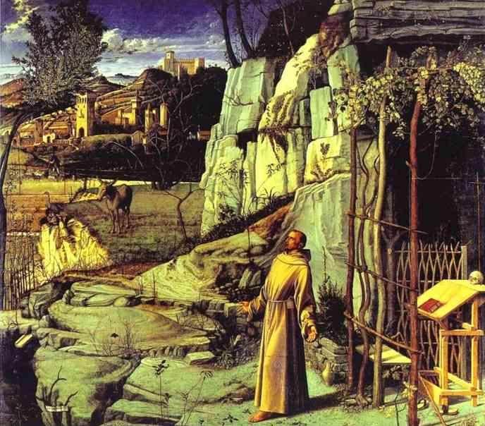 Giovanni Bellini. St. Francis in the Wilderness.