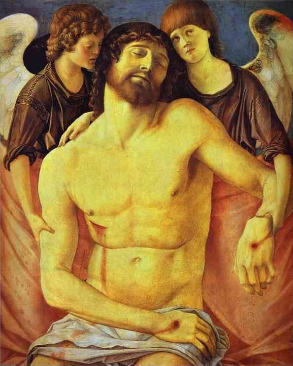 Giovanni Bellini. Dead Christ Supported by Two Angels.