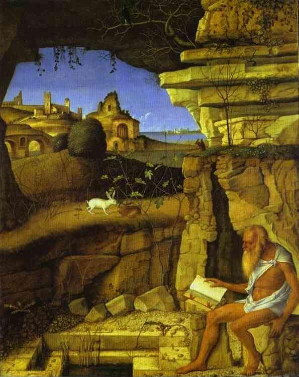 Giovanni Bellini. St. Jerome Reading.