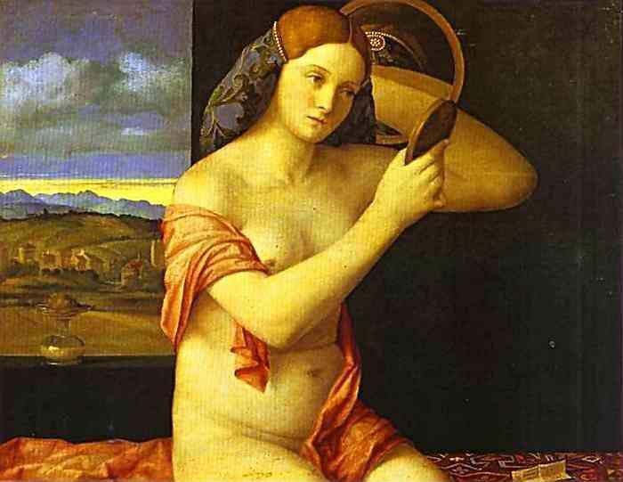 Голая молодая женщина перед зеркалом. gola moloda zhinka pered