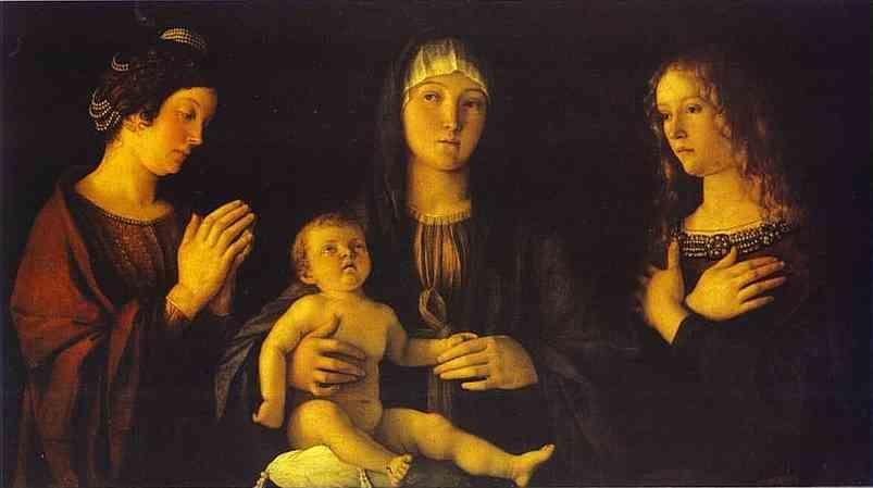 Giovanni Bellini. Virgin and Child between St. Catherine and St. Mary Magdalene.