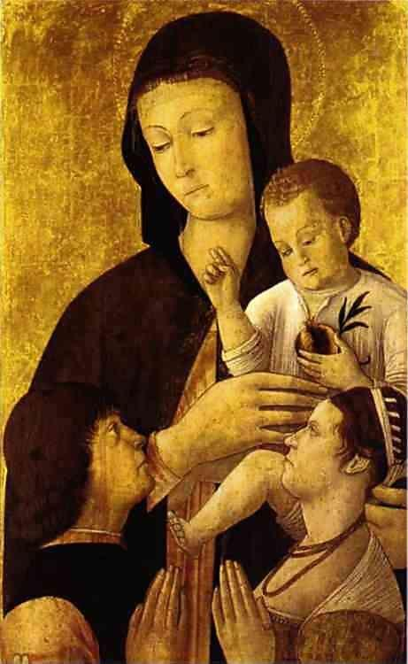 Gentile Bellini. Madonna and Child with Donors.