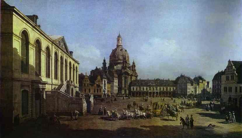 Bernardo Bellotto. The New Market Square in Dresden, Seen from the Judenhof.