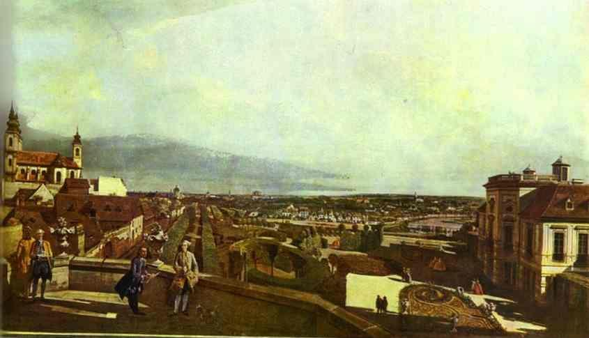 Bernardo Bellotto. Kaunitz Palace and Park in Vienne.