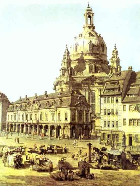 Bernardo Bellotto. The New Market Square in Dresden, Seen from the Judenhof. Detail.