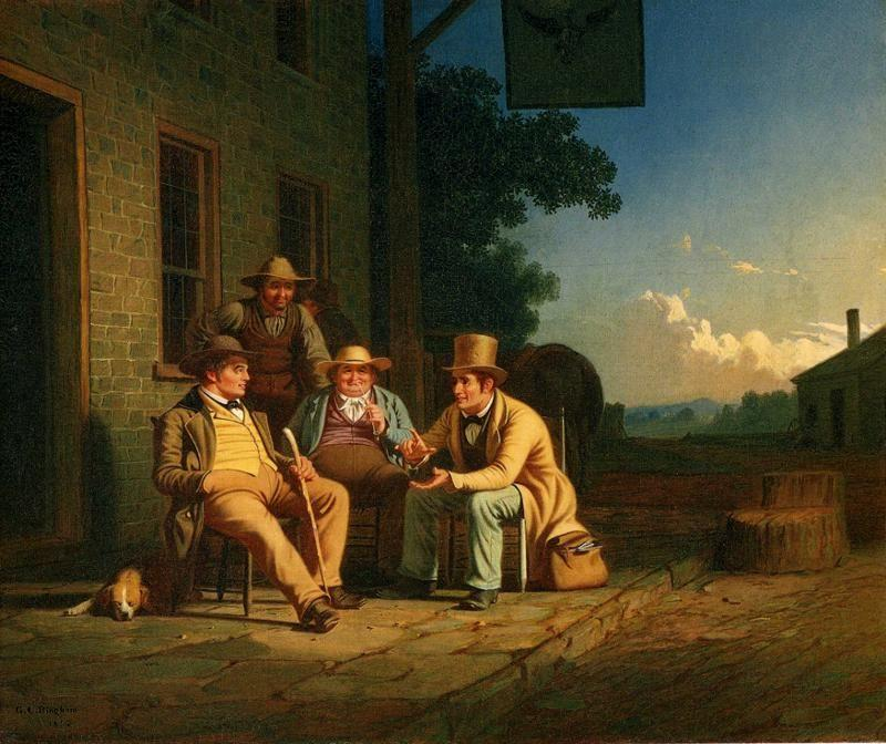 George Caleb Bingham. Canvassing for a Vote.