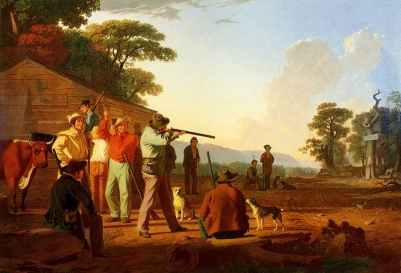 George Caleb Bingham. Shooting for the Beef.