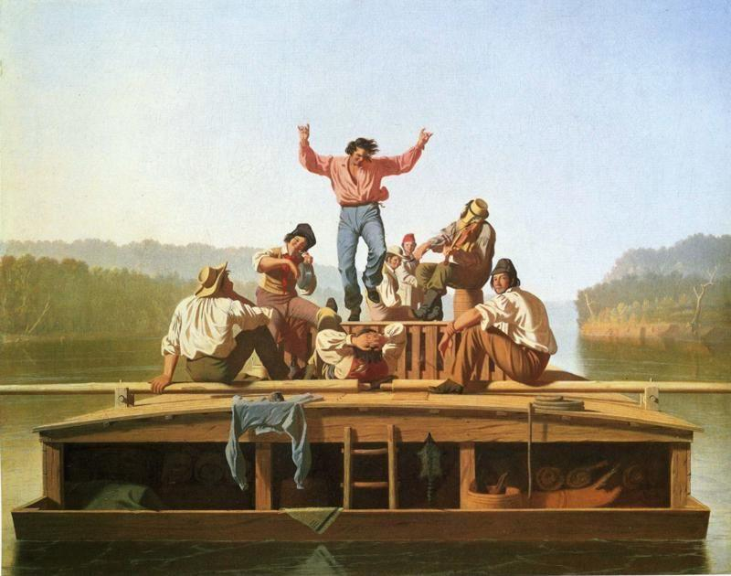 George Caleb Bingham.  The Jolly Flatboatmen.