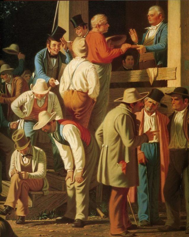 George Caleb Bingham. The County Election. Detail.