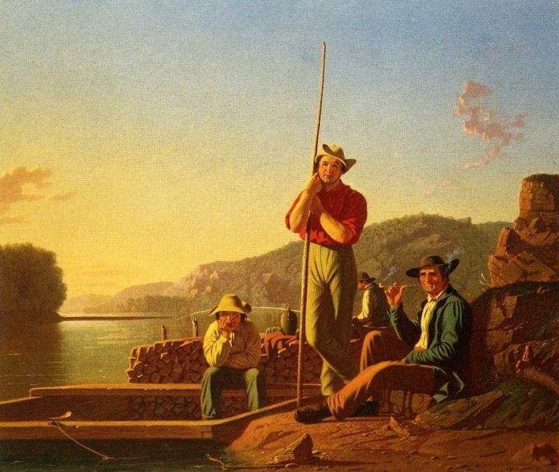 George Caleb Bingham. The Wood-Boat.