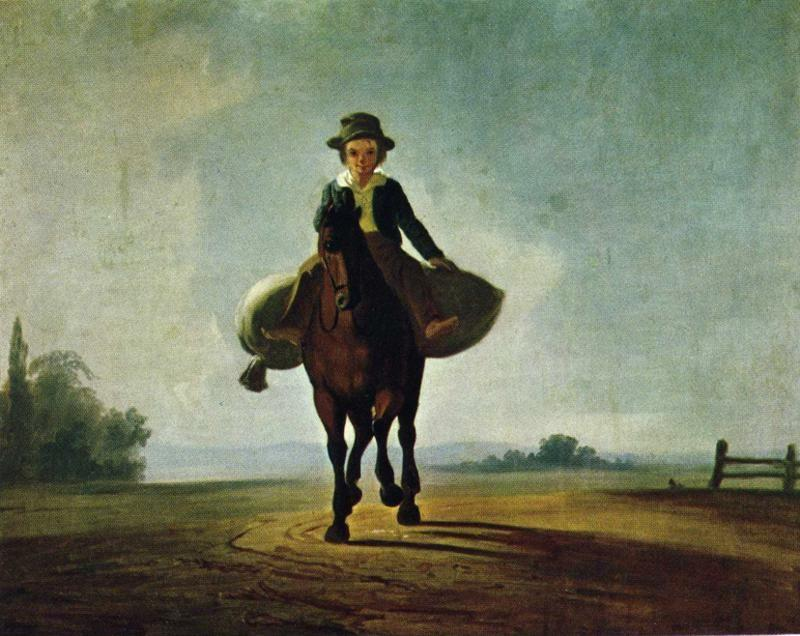 George Caleb Bingham. The Mill Boy: The Boonville Juvenile Clay Club Banner.