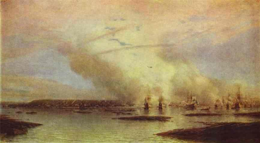 Alexey Bogoliubov. Battle of Gangut on 27 July 1714.